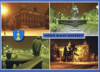 Noční zimní Holešov