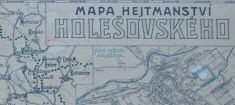 Mapa hejtmanství HOLEŠOVSKÉHO