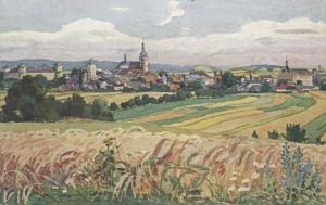 pohled města Holešova, Fr. Stelzig