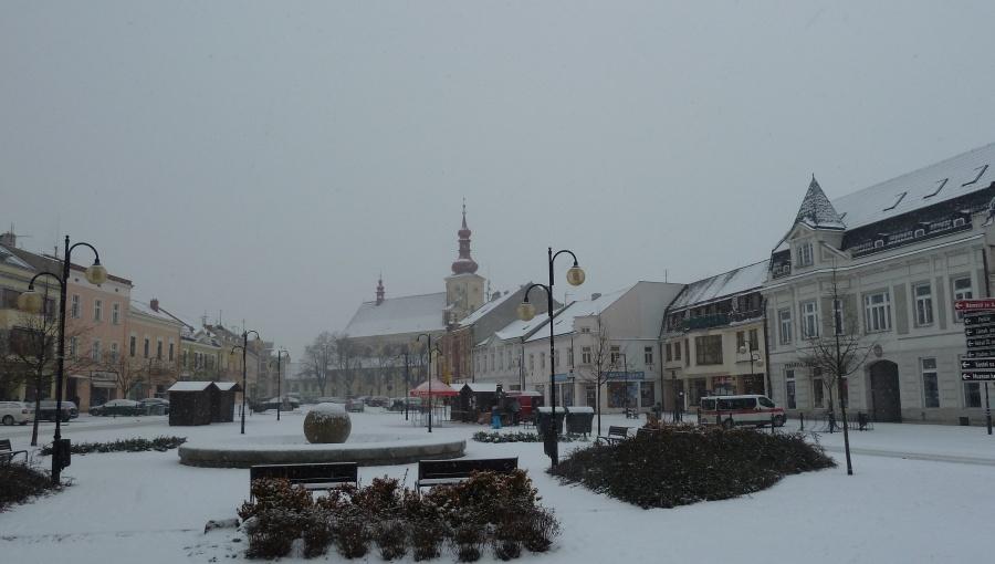 23. ledna 2016 – náměstí Dr. Edvarda Beneše (-4,4 °C)