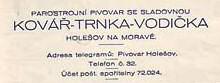 Adresa z dopisnísho papíru, zdroj: www.pivety.com