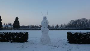 24. ledna 2016 – zámečtí sněhuláci (0,4 °C)