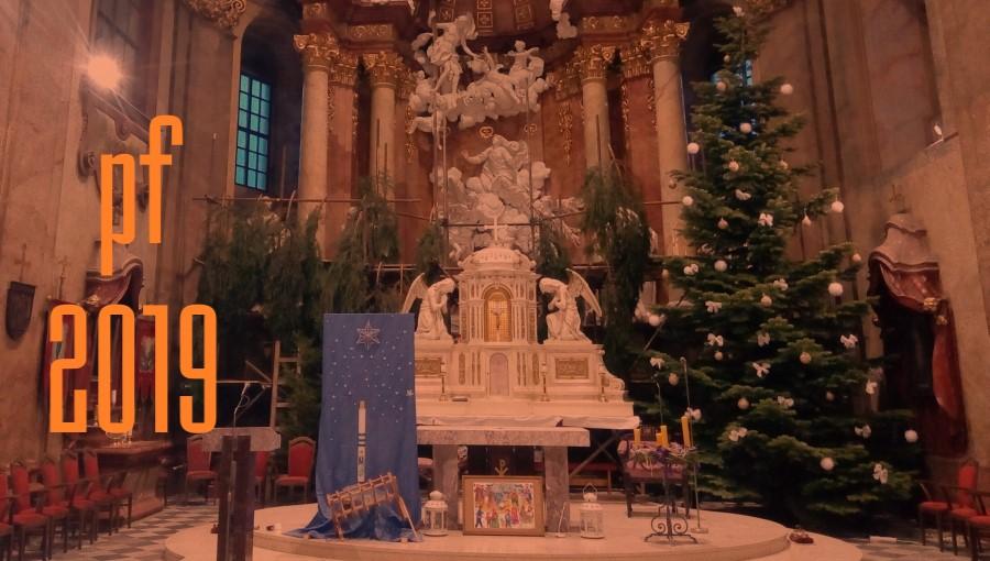 23. prosince 2018 – Vánoční stromeček v kostele Nanebevzetí Panny Marie (6,1 °C)