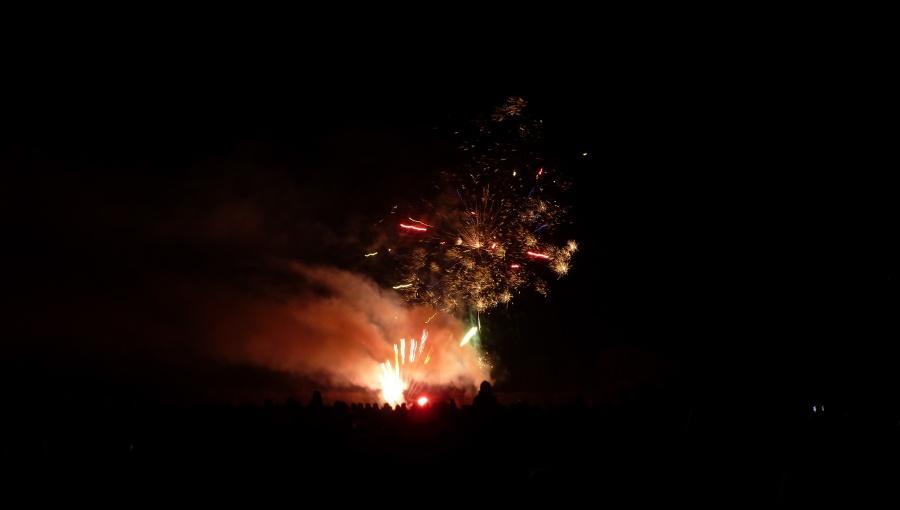 1. leden 2020 – Novoroční ohňostroj v zámecké zahradě (-0,1 °C)